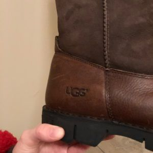 UGG Shoes - Men's brown leather UGG boots size 10 (US)